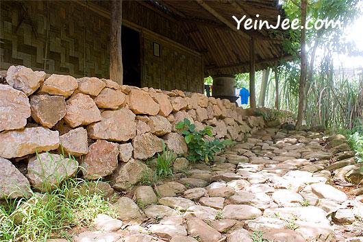 Outdoor exhibit at Museum of Ethnology in Hanoi, Vietnam