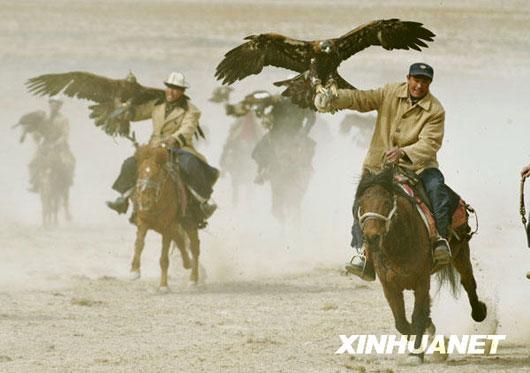 Falcon cultural festival in Xinjiang, China