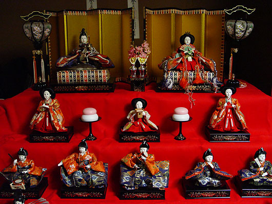 Hina Ningyo, Japanese ornament dolls for Hina Matsuri, Japanese Girls Festival