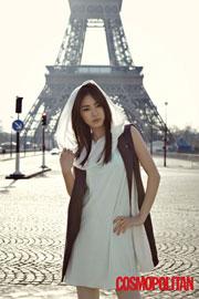 Korean actress Lee Yeon-hee in Paris, France