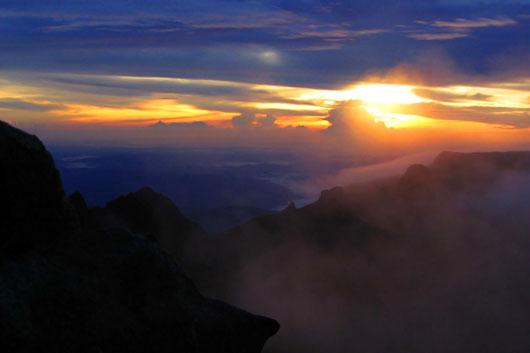 Sunrise at Mt Kinabalu in Sabah, Malaysia