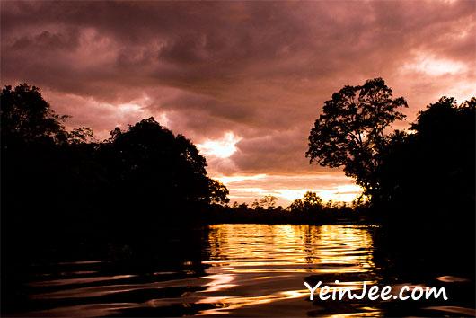 Sunset at Klias Wetland in Sabah, Malaysia