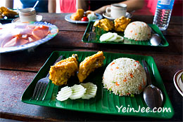 Food at Borneo Proboscis River Lodge in Klias Wetland, Sabah