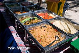 Seafood lunch of Mamutik Island, Sabah, Malaysia