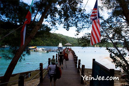 Jetty of Sapi Island, Sabah, Malaysia