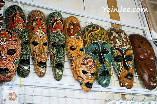 Masks at Filipino Market, Kota Kinabalu, Malaysia