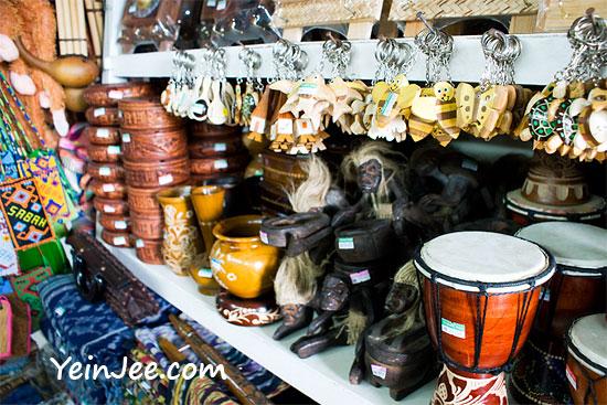 Handicrafts at Filipino Market, Kota Kinabalu, Malaysia