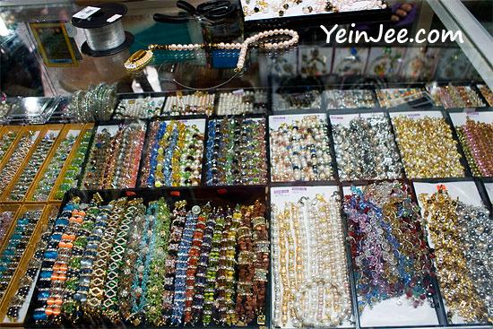 Beads and jewelries at Filipino Market, Kota Kinabalu, Malaysia