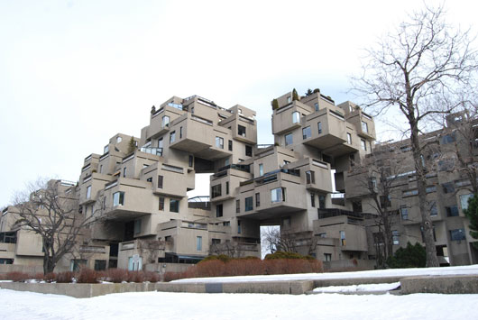 Habitat 67 housing complex in Montreal, Canada
