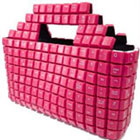 Pink colour keyboard-handbag