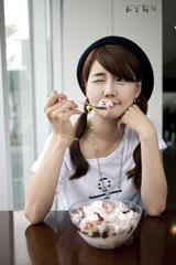 Korean model Han Ga-eun