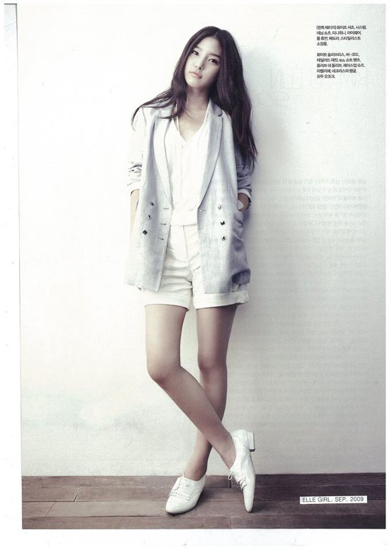 Korean actress Kim So-eun on Elle Girl magazine