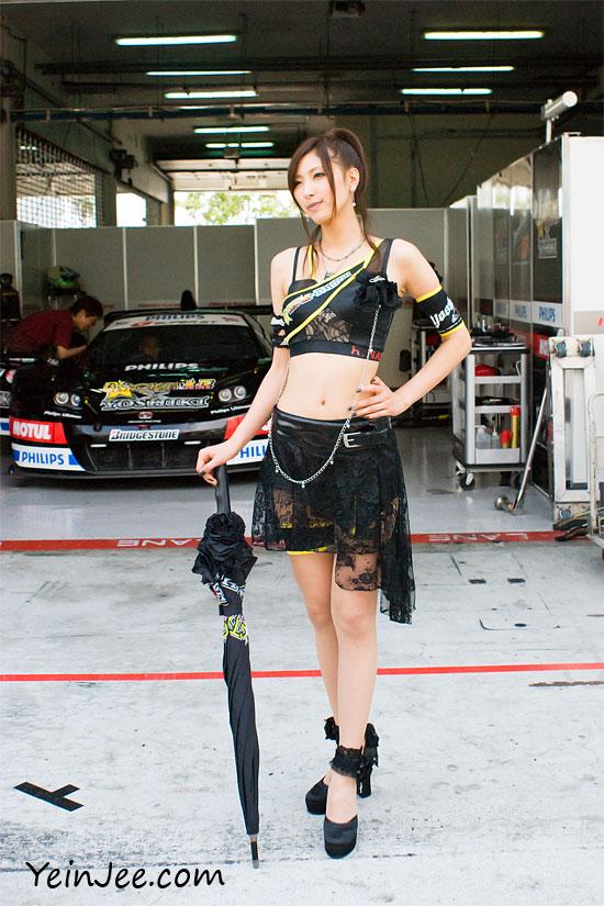 Japanese race queen Yuriya Hasegawa at Super GT Sepang 2009