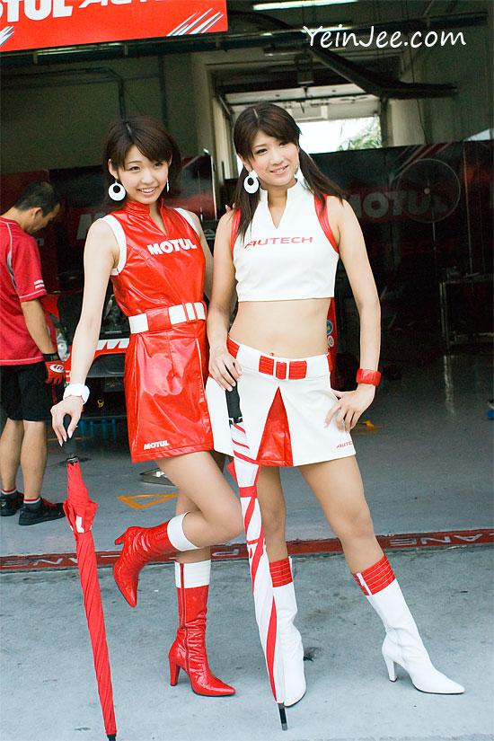 Japanese race queens Ume Igarashi and Yuki Uda