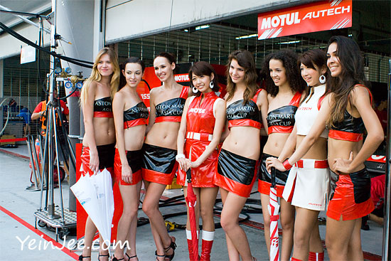 Aston Martin Asia Cup models at Super GT Malaysia 2009