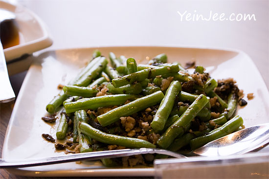 Stir-fried long beans at Chao Yen Teochew restaurant at Sunway Pyramid, Bandar Sunway
