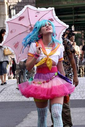 American actress Kirsten Dunst cosplay in Tokyo, Japan