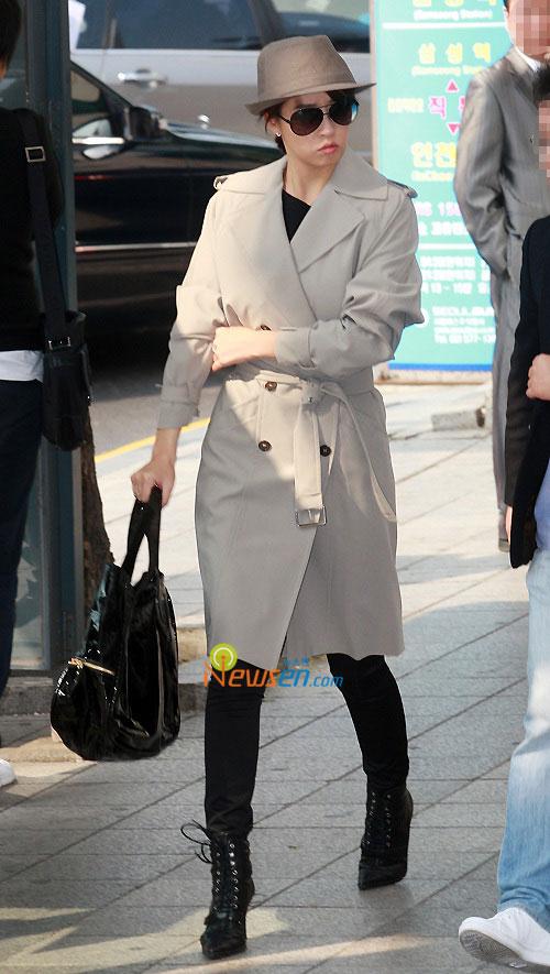 Korean actress Kim Sun-ah at Tablo and Kang Hye-jung wedding ceremony