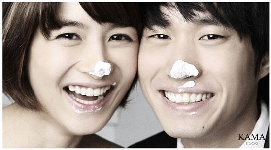 Tablo & Kang Hye-jung's wedding photos
