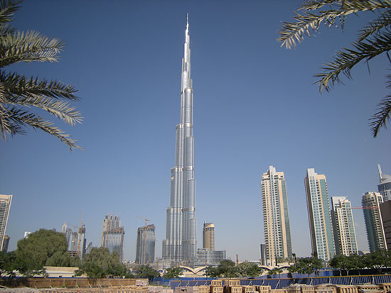 Burj Khalifa in Dubai, United Arab Emirates, tallest building in the world
