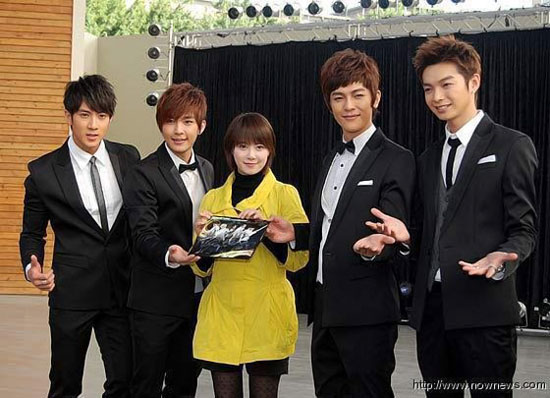 Korean actress Koo Hye-sun and Taiwanese boy band Fahrenheit