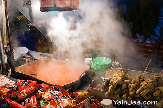 Korean street food at Namdaemun Market, Seoul
