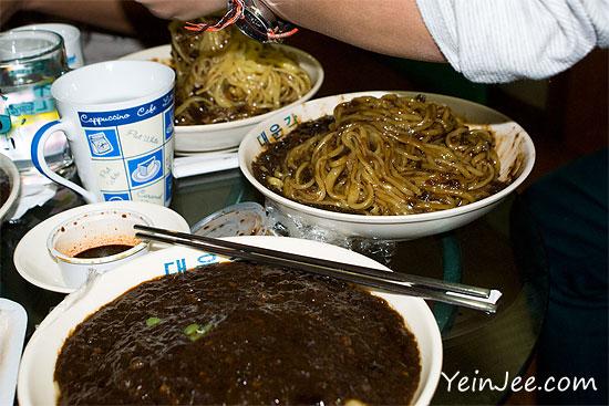 Jajangmyeon, Korean black bean sauce noodle