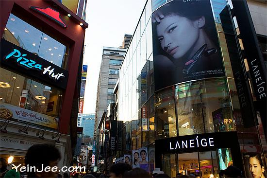 Laneige in Myeongdong, Seoul