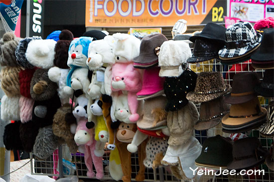 Cute hats in Myeongdong, Seoul