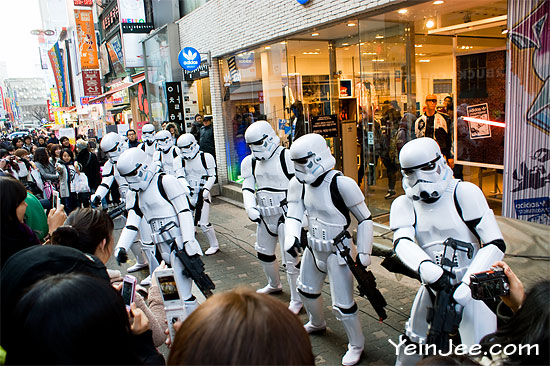 Imperial stormtrooper in Seoul, South Korea