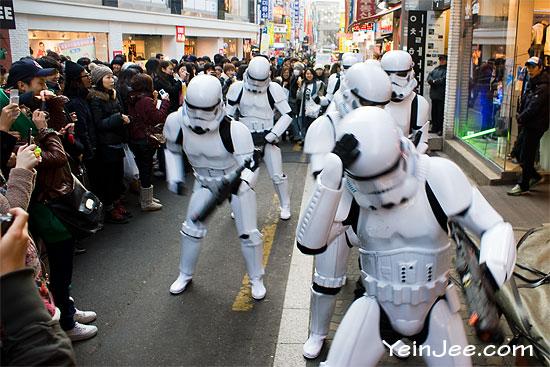 Imperial stormtrooper in Seoul