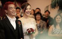 Hong Kong celebrity couple Jordan Chan and Cherrie Ying got married