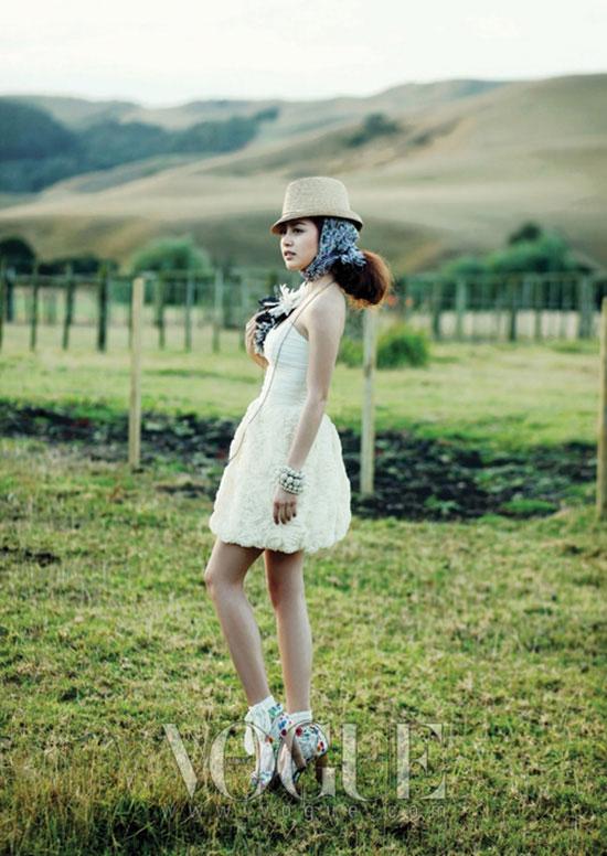 Korean actress Kim Tae-hee Vogue Magazine