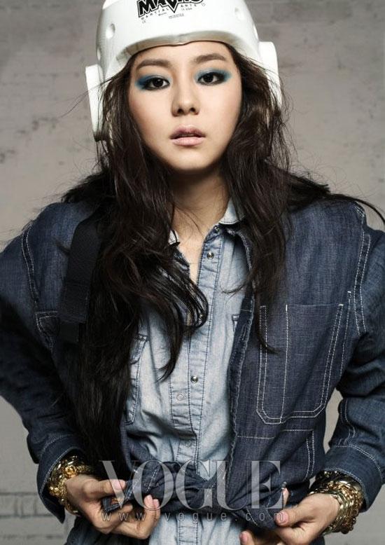 Korean pop star Uee for Vogue magazine