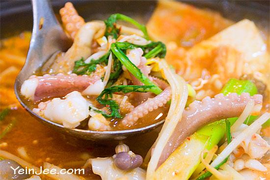 Octopus hotpot in Seoul, South Korea