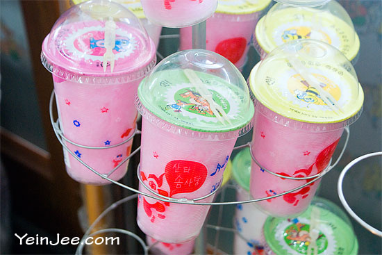 Cotton candy in a cup, South Korea