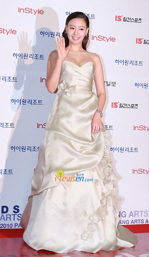 Kim Ah-joong at 2010 Baeksang Awards in Seoul