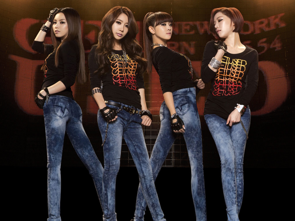 Korean pop group Brown Eyed Girls for Get Used jeans wallpaper