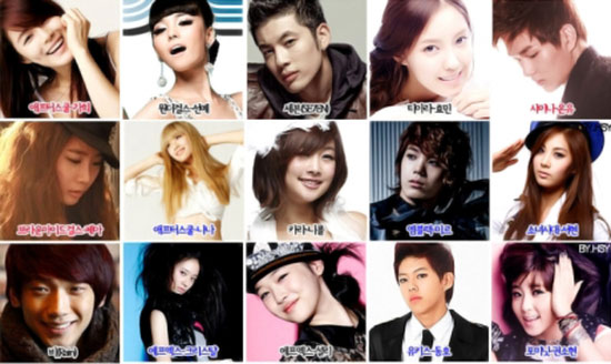 Korean pop stars age chart