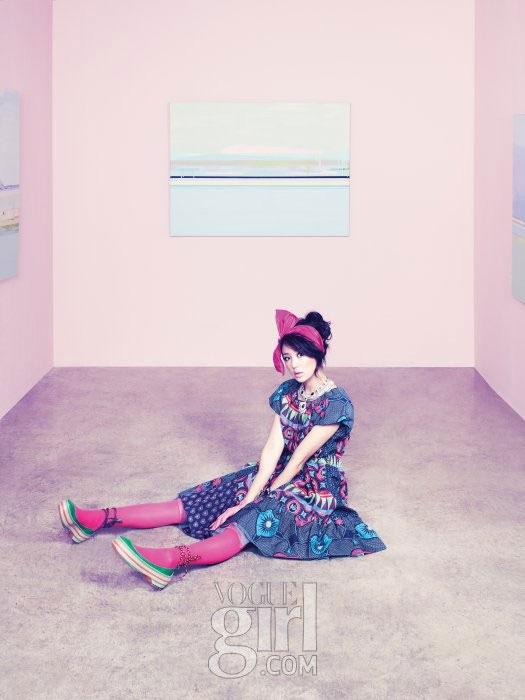 Korean actress Yoon Eun-hye for Vogue Girl Ping Wings Campaign