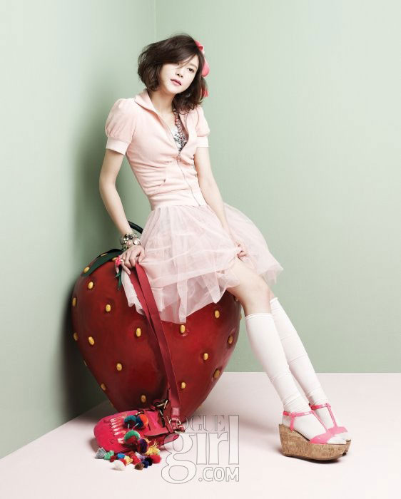 Korean actress Cha Ye-ryun for Vogue Girl Ping Wings Campaign