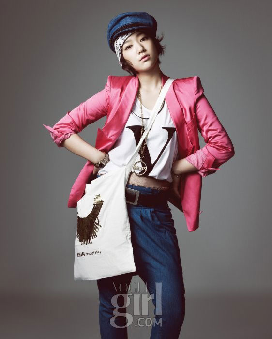 Korean actress Park Shin-hye for Vogue Girl Ping Wings Campaign