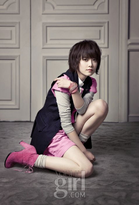 Korean actress Goo Hye-sun for Vogue Girl Ping Wings Campaign
