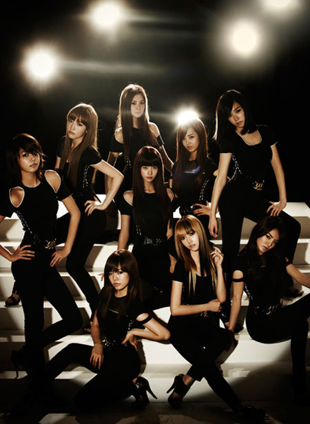 Korean pop group Girls Generation black soshi photo