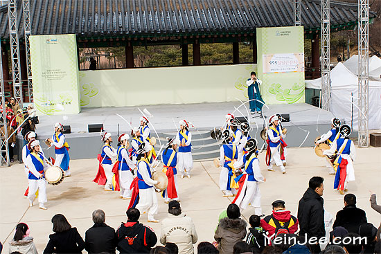 Korean traditional dance at Namsanguk Hanok Village, Seoul