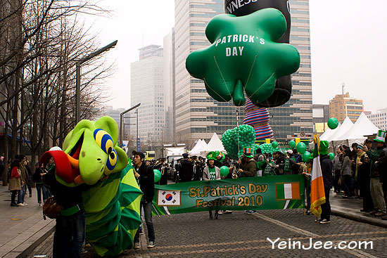 Saint Patrick Day parade in Seoul, South Korea