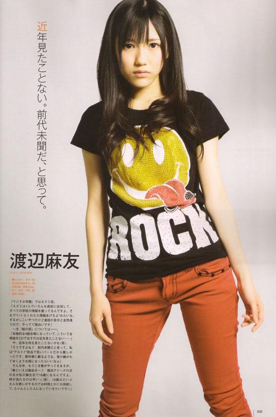 AKB48 Mayu Watanabe UTB Magazine