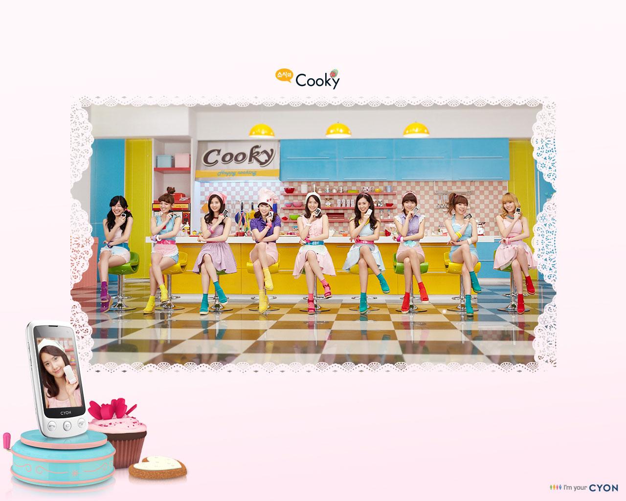 SNSD LG Cyon Cooky wallpaper
