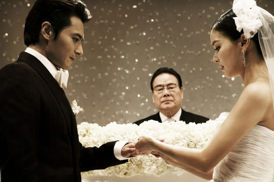 Jang Dong-gun and Ko So-young wedding photo