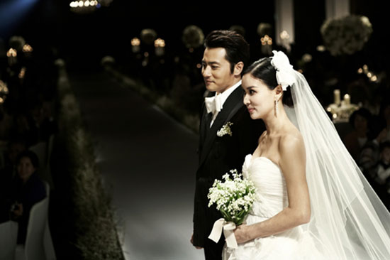 Jang Dong-gun and Ko So-young wedding pic